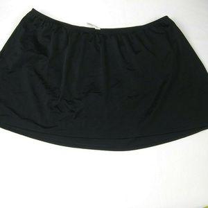 Swim by Cacique Womens Size 26 Swim Skirt Black Pl